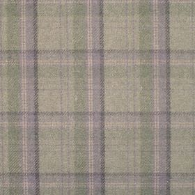 Edderton - Sage - Fabric wth shades of mid green plaid