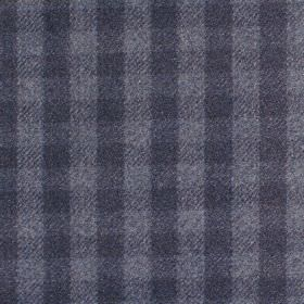 Peyton - Denim - Fabric with shades of blue criss-cross stripes