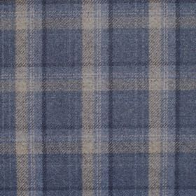 Edderton - Denim - Fabric with blue plaid pattern