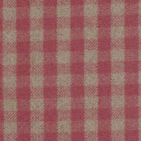 Peyton - Cranberry - Fabric with shades of dark red criss-cross stripes