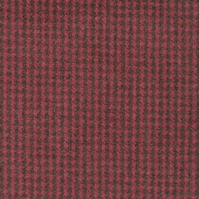 Reid - Cranberry - Fabric in shades of dark red forming dot squares