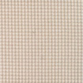 Reid - Nougat - Fabric in shades of cream with dot squares