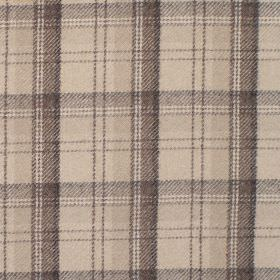 Edderton - Praline - Fabric with shades of light green plaid