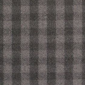 Peyton - Charcoal - Fabric with shades of charcoal criss-cross stripes