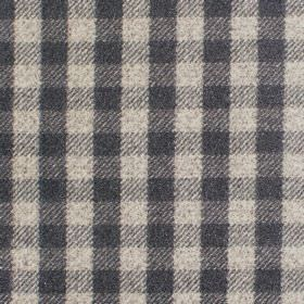 Peyton - Flint - Fabric wth shades of dark grey wth criss-cross stripes