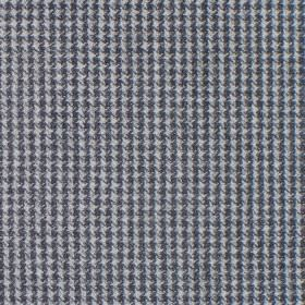 Reid - Flint - Fabric in shades of dark grey with dot squares