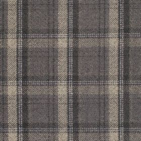 Edderton - Flint - Fabric with shades of dark grey plaid