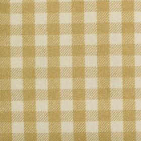 Peyton - Dijon - Fabric with shades of yellow criss-cross stripes