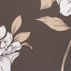 Capel - Mercury - Mercury brown fabric with a classic modern floral design