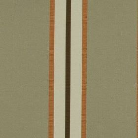 Hardy - Burnt Orange - Thin dark orange, pale grey-white and dark charcoal coloured stripes running down cement grey 100% polyester fabric