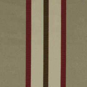 Hardy - Scarlet - Fabric made from 100% polyester featuring a vertical stripe design in maroon and three different shades of grey