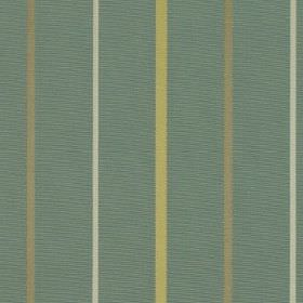 Mira - Duck Egg - Teal coloured 100% polyester fabric patterned with vertical stripes in pale grey, olive green and light yellow-green