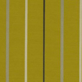 Mira - Mimosa - Lime green coloured fabric made from 100% polyester, featuring vertical stripes in black and two shades of grey