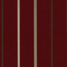 Mira - Scarlet - Indulgent deep maroon coloured 100% polyester fabric featuring charcoal, ash grey and white coloured vertical stripes