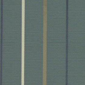 Mira - Wedgewood - Thin vertical stripes in denim blue, dove grey and white on a dusky blue coloured 100% polyester fabric background