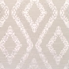 Akuchi - Dove - Fabric with dove grey background with bold lighter diamond pattern