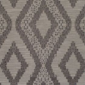Akuchi - Slate - Fabric with dark grey background with bold slightly darker diamond pattern