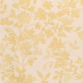 Litzy - Mimosa - Cotton fabric with neutral background with mimosa leaf pattern
