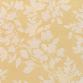 Litzy - Mimosa - Cotton fabric with yellow background with white floral pattern
