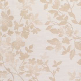 Litzy - Cashew - Cotton fabric with neutral background with slightly darker leaf pattern