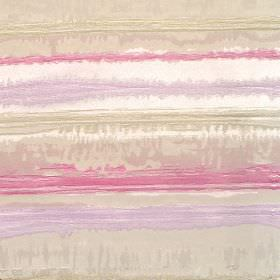 Kayli - Mauve - Cotton fabric with shades of mauve, moss, rose and white horizontal stripes