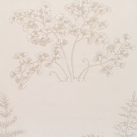 Elowen - Ivory - Cotton fabric in white with darker feint floral pattern