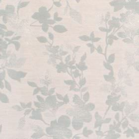 Litzy - Powder Blue - Cotton fabric with light blue background with slightly darker blue leaf pattern