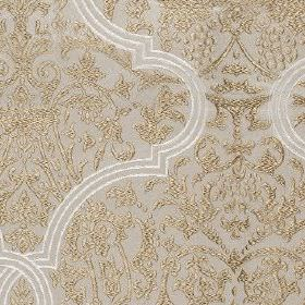 Amaya - Linen - Some simple white embroidery on elegant, sophisticated pewter and light grey coloured 100% polyester fabric