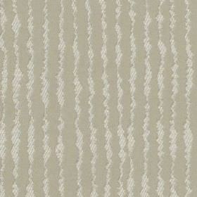 Ridge - Nougat - Light shades of grey making up a subtle, striped, uneven wiggly vertical line design on polyester and cotton blend fabric