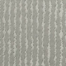 Ridge - Silver - Subtly striped, uneven, wiggly vertical lines running down polyester and cotton blend fabric in light shades of grey