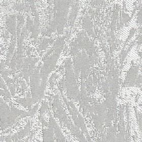 Cascade - Silver - Polyester and cotton blend fabric made with a patchily printed abstract design in white and silver-grey colours