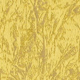 Cascade - Zest - Pale shades of yellow and grey making up a patchily printed abstract design on polyester and cotton blend fabric