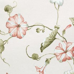 Henley - Rose - Fabric made from 100% cotton, featuring a pretty floral and leaf pattern in pastel shades of pink, green, blue and white
