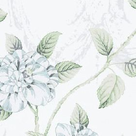 Osbourne - Forget Me Not - Fabric made from 100% cotton, featuring a pretty, delicate, subtle design of flowers and leaves in white and ligh