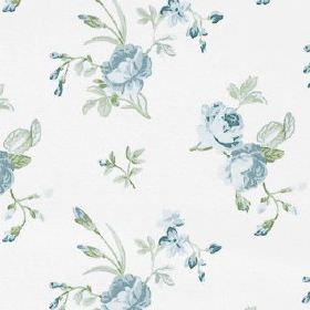 Clarence - Forget Me Not - Fabric made from floral patterned 100% cotton, featuring a small, delicate pattern in light, fresh shades of grey