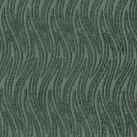 Carrie - Aqua - Stylish wavy zigzag lines patterning 100% polyester fabric in a dark blue-grey colour