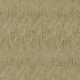Carrie - Taupe - Subtle wavy zigzag stripes patterning neutral beige coloured 100% polyester fabric