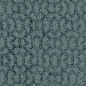 Heeley - Cornflower - Denim blue coloured 100% polyester fabric patterned with a slightly textured pattern of small geometric shapes