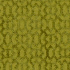 Heeley - Lime - Fabric made from 100% polyester in light apple green, featuring a slightly darker textured geometric pattern