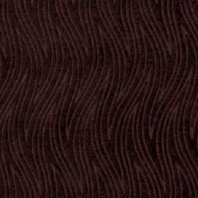 Carrie - Aqua - Dark aubergine coloured fabric made from 100% polyester featuring a stylish pattern of large, thin wavy zigzags