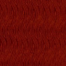 Carrie - Fuchsia - Indulgent deep scarlet coloured fabric made from 100% polyester, featuring a large pattern of thin, wavy zigzag lines
