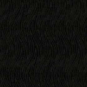 Carrie - Noir - 100% polyester fabric in black, patterned with a very subtle design of large, thin, wavy zigzags