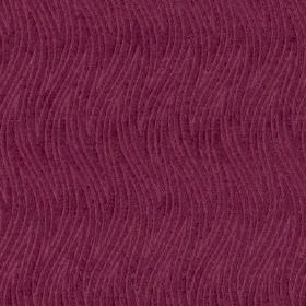 Carrie - Pink - A subtle pattern of large, thin, wavy zigzag lines on 100% polyester fabric made in a bright violet colour
