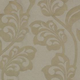 Lebala - Cream - Pale shades of blue and grey making up a pretty, elegant stylised floral design on 100% polyester fabric