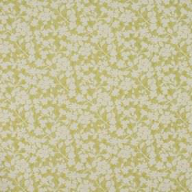 Grasmere - Dijon - Tiny white flowers scattered over citrus coloured fabric made from a combination of cotton and polyester