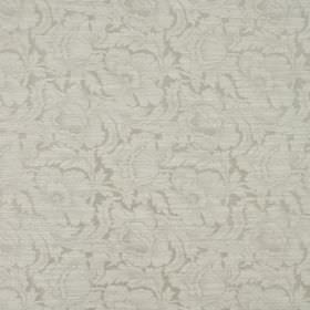 Kensington - Dove - Very subtly patterned fabric made from cotton and polyester with a floral design in two similar shades of grey
