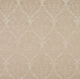 Luddington - Blush - A very detailed, intricate pattern in a warm latte shade on creamy beige coloured fabric made from a blend of materials