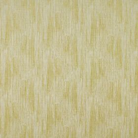 Ditton - Dijon - Polyester and cotton blend fabric in white, dashed with vertical streaks in pale green-yellow