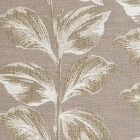 Mabel - Dove - Three different light shades of grey making up an elegant leaf design on fabric blended from polyester and cotton