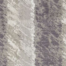 Otis - Amethyst - Very dark blue-grey and off-white coloured stripes on polyester and cotton blend fabric, behind rough light grey patches